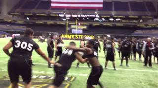 "Freshman Rahshaun ""Shaq"" Smith is intense Army Combine"