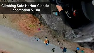 Climbing Safe Harbor Class Locomotion 5.10a (360 VIDEO)