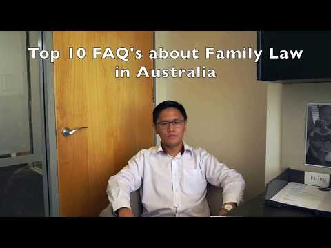 The 10 FAQ's of Australian Family Law - What You Should Know