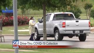 Drive-Thru COVID-19 Collection at Oxford Civic Center