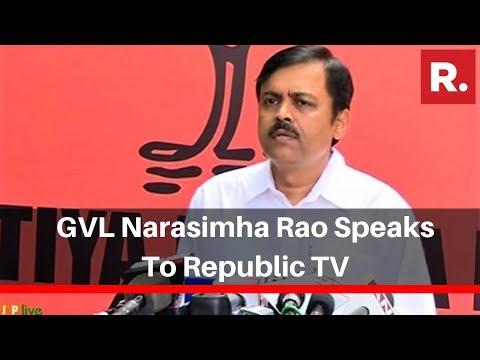 Maharashtra: GVL Narasimha Rao Speaks To Republic TV, Says 'Sonia Gandhi Should Respect Mandate'