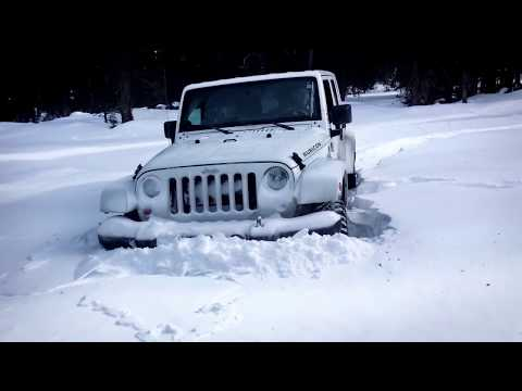 "Jeep Wrangler and Toyota Tundra in 22"" of SNOW"