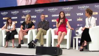 ESCKAZ in Kyiv: Lucie Jones (UK) press-conference