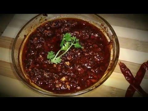 Homemade Schezwan sauce  | Schezwan chutney | how to make szechuan sauce-Hot Sauce | Chineese Sauce
