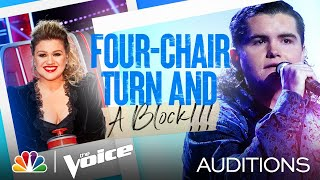 """Kenzie Wheeler's Four-Chair Turn Performance: """"Don't Close Your Eyes"""" - Voice Blind Auditions 2021"""