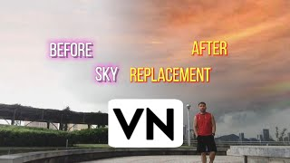 SKY REPLACEMENT TUTORIAL IN VN APPLICATION | HOWTO & STYLE | VN APP TUTORIAL
