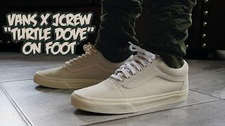 """Vans X JCrew """"Turtle Dove"""" On Foot"""