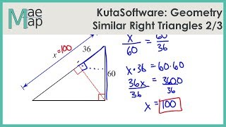 KutaSoftware: Geometry- Similar Right Triangles Part 2
