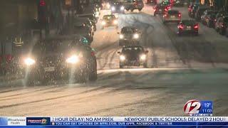 Snowfall blankets Rhode Island