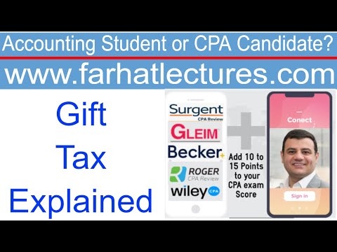 Gift Tax | Corporate Income Tax Course | CPA Exam FAR - YouTube