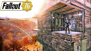 BUILDING THE TALLEST CLIFF BASE IN FALLOUT 76: Base Building Locations - Fallout 76  Gameplay
