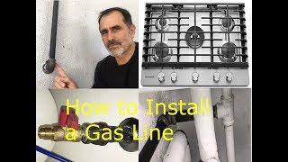 Where to run gas line for stove