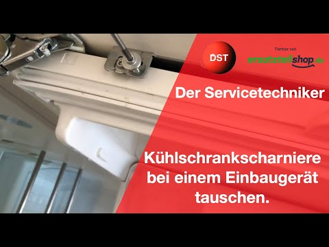 Kühlschrankscharniere defekt- so einfach werden sie gewechselt