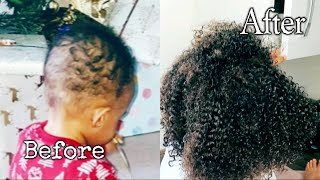 Rice Water For Quick Toddler Hair Growth|| Healthy Natural Hair Growth|| Awura Abena