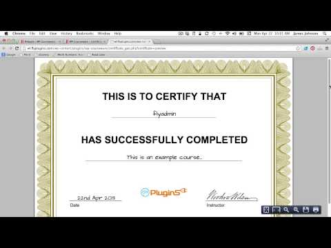 How to Generate a PDF Certificate of Completion for Your Course