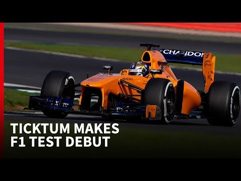 Dan Ticktum tests McLaren F1 car at Silverstone