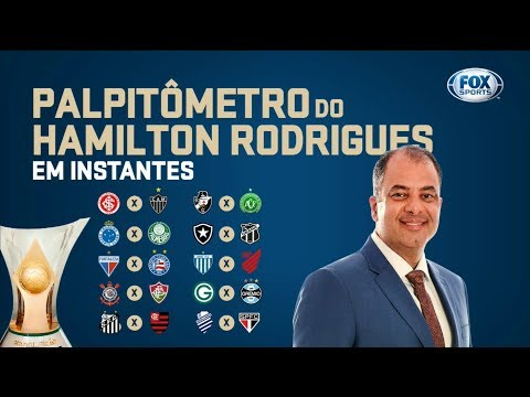 PALPITÔMETRO DO HAMILTON RODRIGUES! Palpites para a 38° rodada do Campeonato Brasileiro