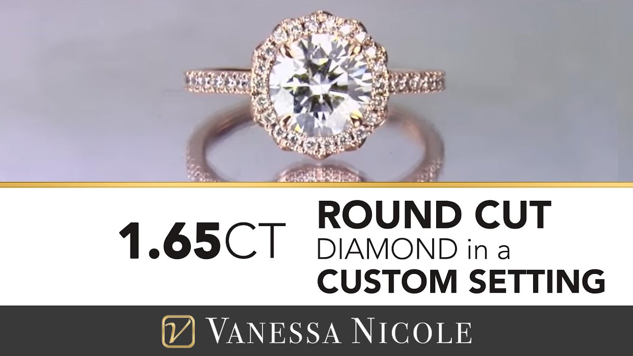 1.65ct Round Cut Diamond Ring