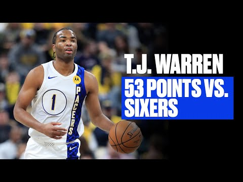 T.J. Warren Was Lights Out vs. Philly | Career-High 53 Points