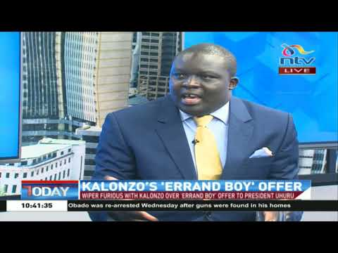 What does Kalonzo's 'errand boy' offer to President Uhuru really mean?