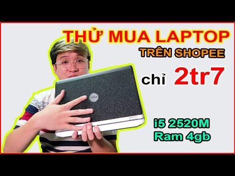 Mở hộp Thử mua Laptop DELL giá 2tr7 trên LAZADA, SHOPEE và cái kết...   MUA HÀNG ONLINE