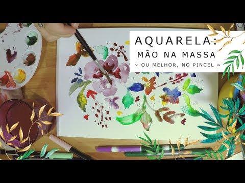 Imagem Video - Aquarela: mão na massa!... ou melhor, no pincel.