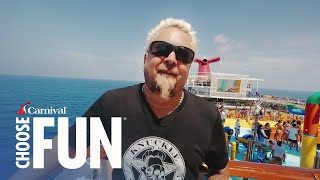 Guy Fieri's Family Vacation On Carnival | Carnival Cruise Line (w/ Audio Description)