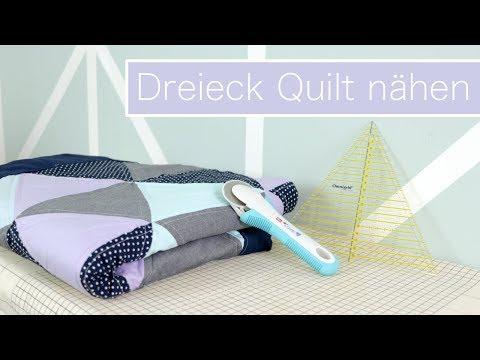 Dreieck Quilt nähen – Patchworken für Anfänger | VERLOSUNG #WirMachenWeihnachten
