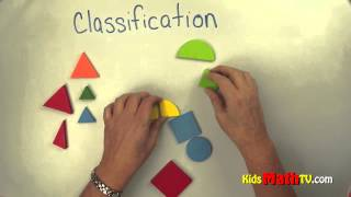 Patterns & Classification Lesson With Objects. For Kindergarten & 1st Grade Kids