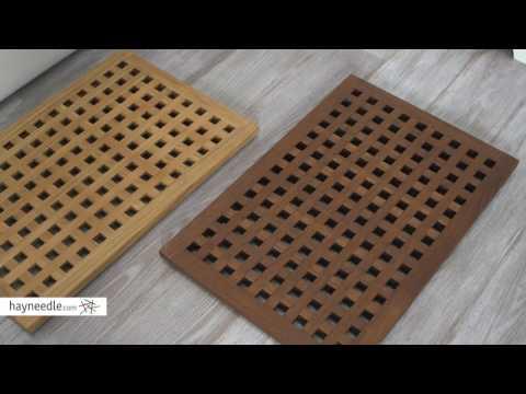 Belham Living Lattice Teak Shower Mat - Product Review Video