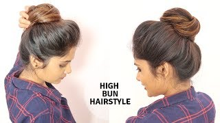 1 Min High Messy Bun Hairstyle For Medium To Long Hair