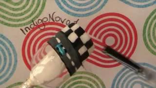 Nail Art Tutorial - Formula One / Grand Prix