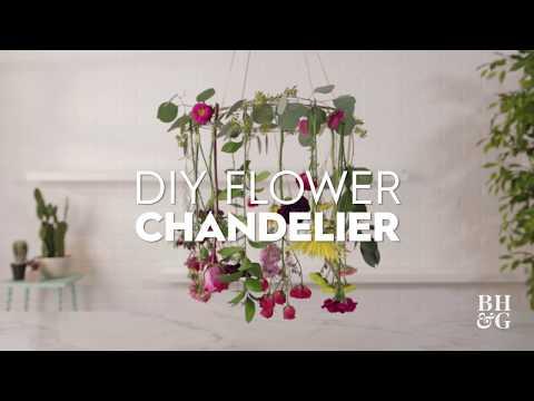 DIY Flower Chandelier | Made By Me Garden | Better Homes & Gardens