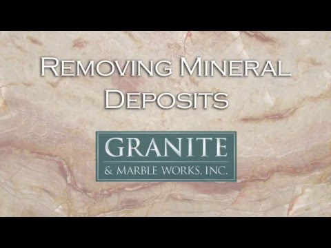 Removing Mineral Deposits From Your Granite Countertop