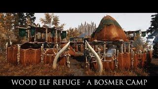 TES V - Skyrim Mods: Wood Elf Refuge - A Bosmer Camp