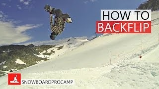 How To Backflip on a Snowboard - Snowboarding Tricks
