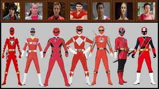 All Red Rangers of Power Rangers (1993 to 2017)Mighty Morphin Power RangersTo  Ninja Steel