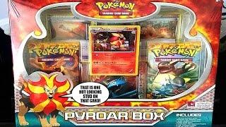 Pyroar  - (Pokémon) - MEGA PULL!- PYROAR BOX - FLASHFIRE + XY BASE SET - POKEMON UNWRAPPED