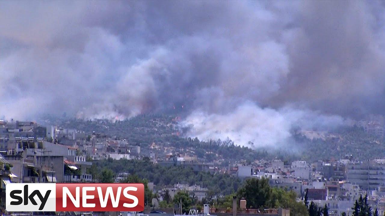 Huge Wildfire On Mount Hymettus Near Athens #Showmatch #Bailando2015