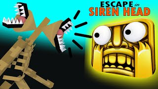 ESCAPE FROM SIREN HEAD TEMPLE RUN MONSTER SCHOOL - MINECRAFT ANIMATION