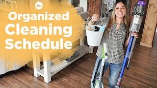 My Organized Cleaning Schedule | All-Natural Cleaners + Cleaning Tips