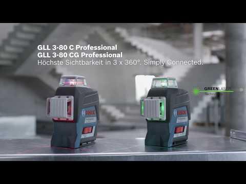 Sichtbarkeit auf neuem Niveau in 3 x 360° - der neue Linienlaser Bosch GLL 3-80 C/CG Professional