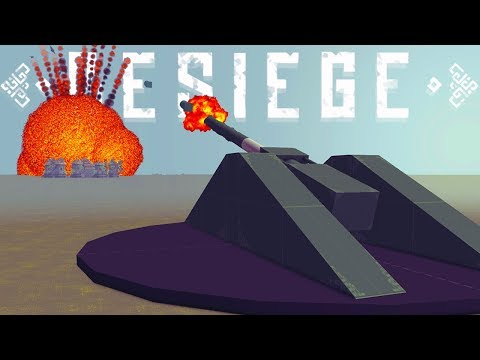 This Atomic Bomb Launcher Destroys Everything - Besiege Minigames & More! - Besiege Best Creations