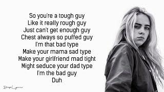 Billie Eilish, Justin Bieber   Bad Guy (Lyrics  Lyric Video)