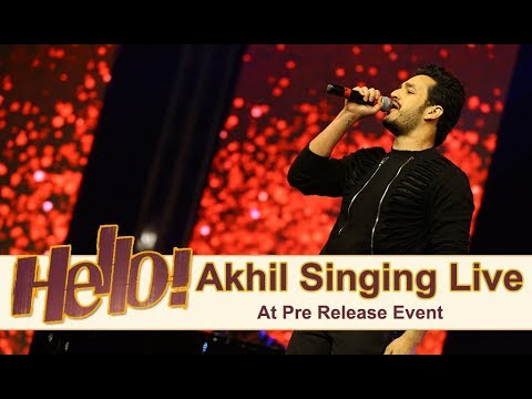 Akhil Singing Live At Hello Pre Release Event