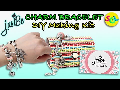 Easy DIY Charm Bracelet Making Kit by justBe | Unboxing & Review SGL