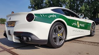 POLICE Ferrari F12 with LOUD Capristo Exhaust System!