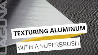 Can You Add Texture to Metal? - Superbrush Texturing Brush on Aluminum Metal
