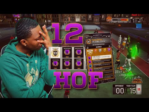12 HOF Badges made me never miss a jumpshot on NBA 2K19! My 99 overall is the Best build on 2k19!
