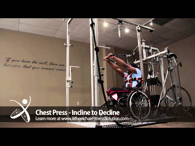 Wheelchair Fitness Solution | Exercise: Chest Press – Incline to Decline (27 of 40)